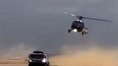 شاهد: احتكاك بين مروحية وشاحنة - صحيفة هتون الدولية