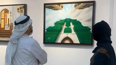 """تشكيليات سعوديات يوثقن"""" رواشين"""" جدة التاريخية في معرض فني"""